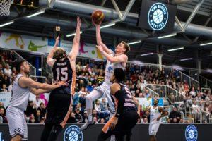 Stefan Weß von den WWU Baskets Münster, in der Heimpartie der BARMER 2. Basketball Bundesliga ProB gegen Itzehoe Eagels am 21.12.2019 (Foto: Christina Pohler)