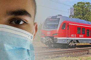 Am Montag findet eine Schwerpunktaktion zur Einhaltung der Maskenpflicht im Schienenpersonennahverkehr statt. (Foto: Bildmontage / CC0)