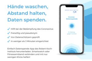 "Die ""Corona-Datenspende"" App des Robert Koch-Instituts. (Grafik: RKI)"