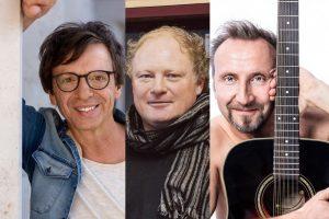 Purple Schulz, Pitti Duyster und Helmut Sanftenschneider (v.r.) kommen in die Adam Riese Show. (Fotos: Ben Schulz, Hubertus Huvermann, privat)