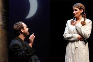 "Johannes Langer und Rosana Cleve in ""How To Date A Feminist"". (Foto: Klaus Lefebvre)"