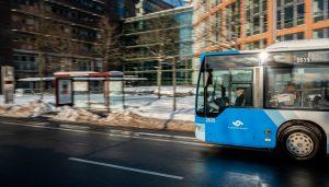Trotz der großen Schneemenge sind schon am Donnerstag alle Stadtteile wieder per Bus erreichbar. (Foto: Stadtwerke Münster)