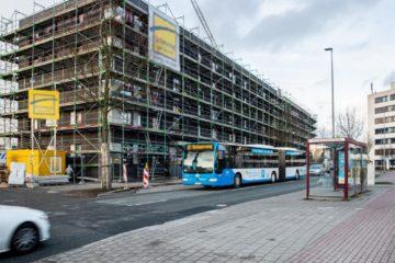 Bildunterschrift: Fahrplanwechsel im April: Die Linie 17 wird im Zentrum Nord künftig auch an den Wochenenden fahren, um das dortige Wohngebiet anzubinden. (Foto: Stadtwerke Münster)