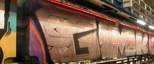 Ein Teil der großflächigen Graffitis an den Reisezugwagen der DB Regio. (Foto: Bundespolizei Münster)