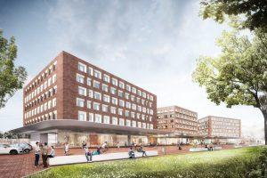 So soll es an der Ostseite des Bahnhofs, am Bremer Platz einmal aussehen. (Visualisierung: kadawittfeldarchitektur / rendertaxi)