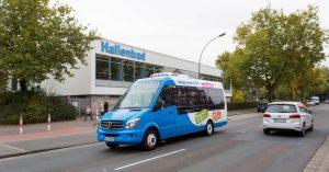 In Hiltrup möchten Stadt und Stadtwerke bedarfsgesteuerte Kleinbusse erproben. Sie können per App zur nächsten Straßenecke gerufen werden und fahren ohne feste Linienwege und Fahrpläne. (Foto: Stadtwerke Münster)