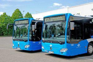 Für den Katholikentag werden eigens zwei Shuttlebus-Linien eingesetzt: die KT1 und KT2. (Foto: Stadtwerke)