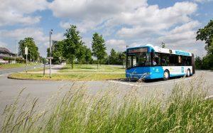 An der Buswende Dieckmannstraße in Gievenbeck wird eine Ladestation für die Elektrobusse errichtet. (Foto: Stadtwerke Münster)