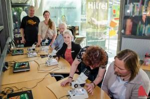 Mitarbeiter und Unterstützer von BioCity in der Forscherwerkstatt. (Foto: th)