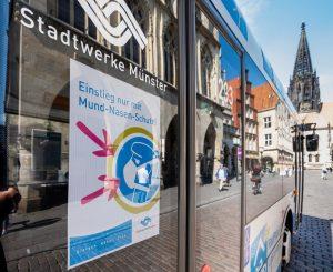 Die Corona-Pandemie sorgt für weniger Fahrgäste im Bus. Bund und Land erstatten dem Busverkehr in Münster nun Verluste in Höhe von über fünf Mio Euro. (Foto: Stadtwerke Münster)