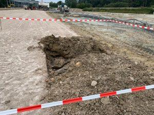 An dieser Stelle kam es am Hessenweg zu der Explosion einer 75-Kilogramm-Bombe. (Foto: Jörg Rosenkranz)