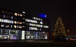 Vorweihnachtsstimmung kommt auch am Hafenplatz auf. (Foto: Stadtwerke Münster)