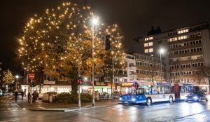 Auch den Feiertagen sind die Busse in Münster unterwegs. (Foto: Stadtwerke Münster)