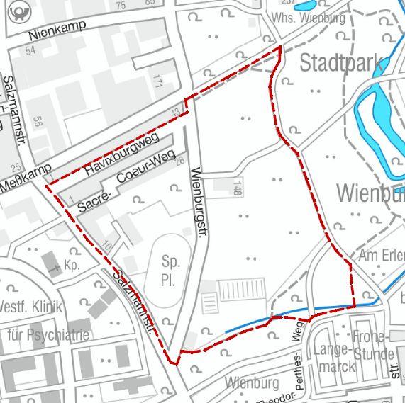 Dieser Bereich wird am Freitagmorgen evakuiert. (Grafik: Stadt Münster / Presseamt)
