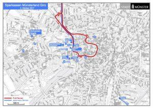 Streckenplan Innenstadt Münster. (Grafik: Stadt Münster)