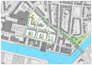 So soll der Neuhafen aussehen. (Grafik: Stadt Münster / Presseamt)