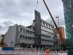 Rund um die Großbaustelle am alten Mercure Hotel brauchen Autofahrer derzeit starke Nerven. (Foto: Stadt Münster / Presseamt)