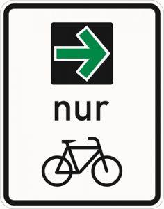Der grüne Pfeil für Radfahrer: Ein neues Schild wird extra in die StVO aufgenommen – wenn die Testphase positiv verläuft.