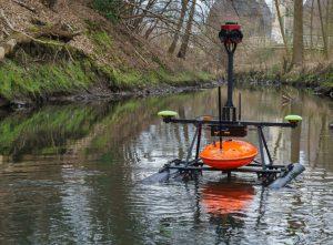 """Das """"RiverBoat"""" wird ab Freitag den Aasee über und unter Wasser sowie an den Uferzonen intensiv untersuchen. (Foto: Forschungsinstitut für Wasser- und Abfallwirtschaft an der RWTH Aachen (FiW) e.V.)"""