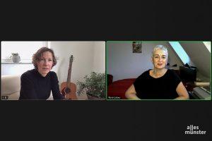 Iris Brandewiede im Online-Gespräch mit Rosa Latour. (Foto: Iris Brandewiede)