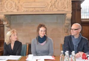 v.l.: Bernadette Spinnen (Münster Marketing), Martje Saljé, Stadtdirektor Hartwig Schultheiß (Foto: th)
