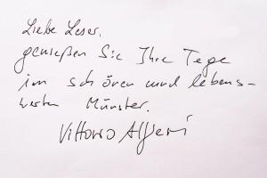 Vittorio Alfieri grüßt alle ALLES MÜNSTER Leser!