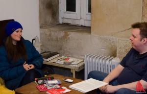 Türmerin Martje Saljé im Interview mit ALLES MÜNSTER. (Foto: th)
