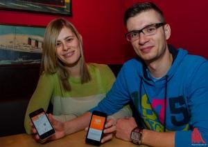 """Jessica Burkhardt und Dominik Schmidt haben """"Kytt"""" entwickelt. (Foto: th)"""