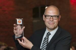 Schultheiß freut sich über den urbanicum Preis (Foto: Stadt MS / Presseamt)