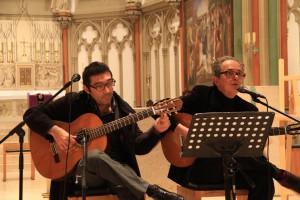 Wolfgang Weigel (re.) und Romer Anvendano (Pipero und Ensemble, Foto: privat)