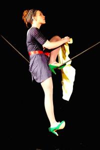 Melanie Hagedorn auf dem Schlappseil (Foto: Promo / GOP)