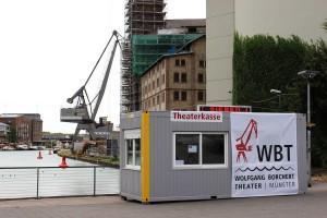 Der provisorische Kassencontainer ist bald Geschichte. (Foto: WBT)