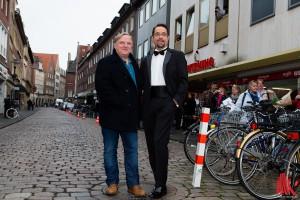 Das Tatort-Münster Duo Axel Prahl (li.) und Jan Josef Liefers ermittelt wieder. (Foto: ml)