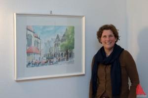 Die Künstlerin Astrid Biese (Foto: cb)