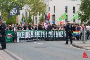 Das keinen Meter Bündnis hatte zum Protest gegen die AfD aufgerufen. (Foto: cb)