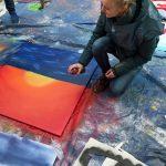 Während eines Workshops sprayten die jungen Künstler ihr persönliches Freiheitsbild. (Foto: Schülerforum Lenz)