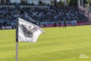 Auch in der Regionalliga dürfen wieder Zuschauer ins Preußenstadion. Allerdings weniger als 5.000, dazu gilt Maskenpflicht im gesamten Stadion. (Archivbild: Carsten Pöhler)