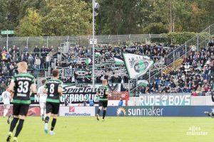 So voll wie vor Corona gewohnt wird es auf den Rängen des Preußenstadions in der neuen Saison nicht werden können. (Archivbild: Carsten Pöhler)