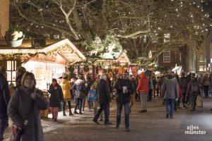 Ob der Weihnachtsmarkt 2020 hier in Münster stattfinden wird, steht noch in den Sternen. (Archivbild: Carsten Pöhler)