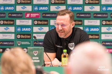 """Sascha Hildmann, der neue Trainer des SC Preußen Münster, glaubt, dass """"die Mannschaft lebt!"""" (Foto: Carsten Pöhler)"""
