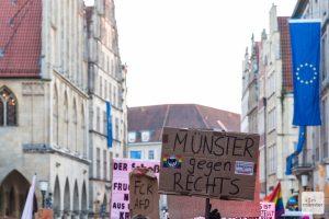 Immer wieder gehen in Münster Menschen gegen die AfD auf die Straße - wie hier beim Neujahrsempfang 2020. (Foto: Carsten Pöhler)