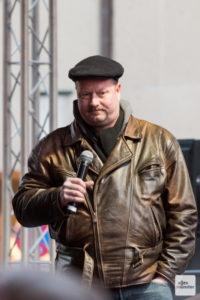 """Carsten Peters ist einer der Sprecher des Bündnisses """"Keinen Meter den Nazis Münster"""". (Archivbild: Carsten Pöhler)"""