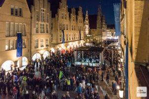 Am 7. Februar 2020 kamen fast 10.000 Menschen zum Prinzipalmarkt, um gegen den Neujahrsempfang der AfD im Rathaus zu demonstrieren. (Archivbild: Carsten Pöhler)