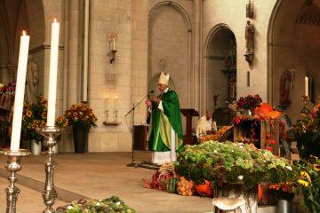 Über das Leben als Gabe und Geschenk sprach Bischof Genn bei der Predigt zum Erntedankfest im Dom. (Foto: Bischöfliche Pressestelle / Heike Hänscheid)