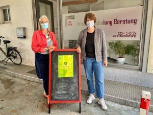 Ehrenamts-Beratungen im Stadtzentrum. Dr. Susanne Götz (Verein Bürgernetz) und Vera Kalkhoff (FreiwilligenAgentur) freuen sich über eine weitere Kooperation. (Foto: PM)