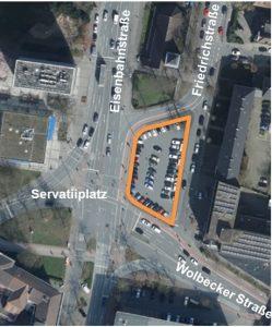 Noch wird das Areal als Parkplatz genutzt. (Foto: Presseamt / Stadt Münster)