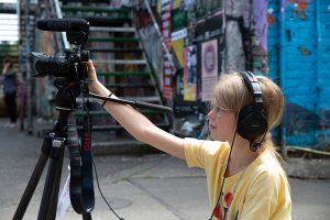 Gefilmt wurde natürlich auch 2019 beim Kulturrucksack-Workshop der Filmwerkstatt Münster. (Foto: Steffi Köhler/ Filmwerkstatt Münster)