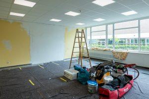Die alte Mensa wird zurzeit wieder in Klassenräume umgewandelt. (Foto: Presseamt Münster)