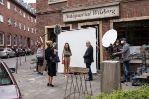 """Wegen der Corona-Pandemie wurde für """"Wilsberg"""" diesmal nur drei Tage lang in Münster gedreht. (Foto: ZDF / Thomas Kost)"""