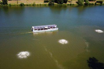 Angesichts des erwarteten Hochsommerwetters startet die Stadt die neue Aasee-Belüftung. Foto: (Stadt Münster / Lutz Hirschmann)